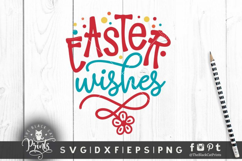 Easter Wishes SVG