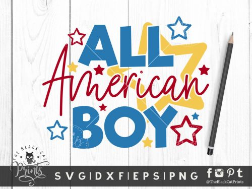 All American Boy SVG