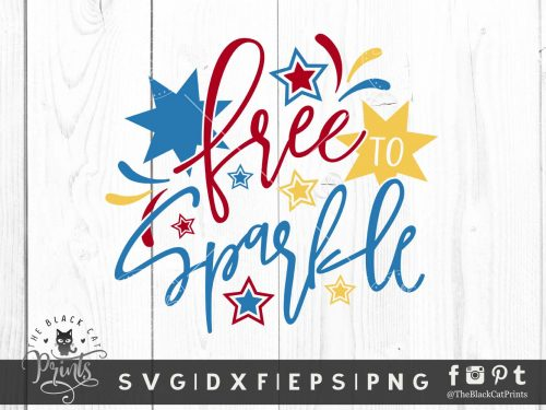 Free To Sparkle SVG