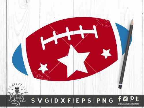 Patriotic Football SVG