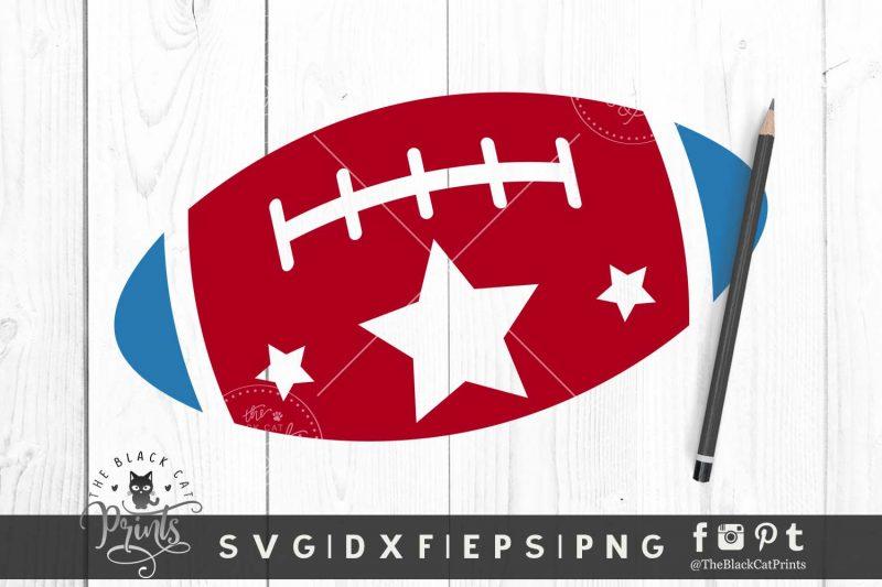 Patriotic Football SVG