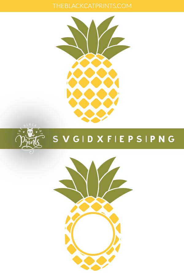 Pineapple Monogram SVG