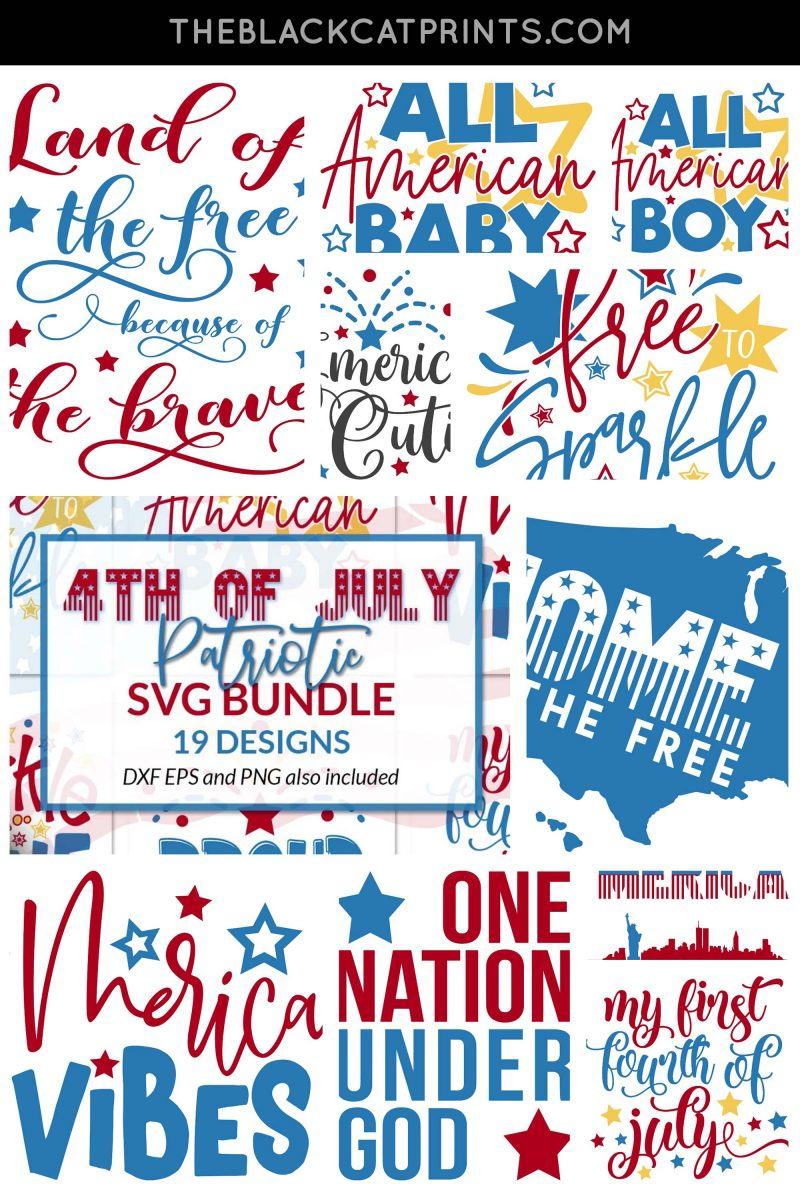 4th Of July bundle SVG DXF PNG EPS