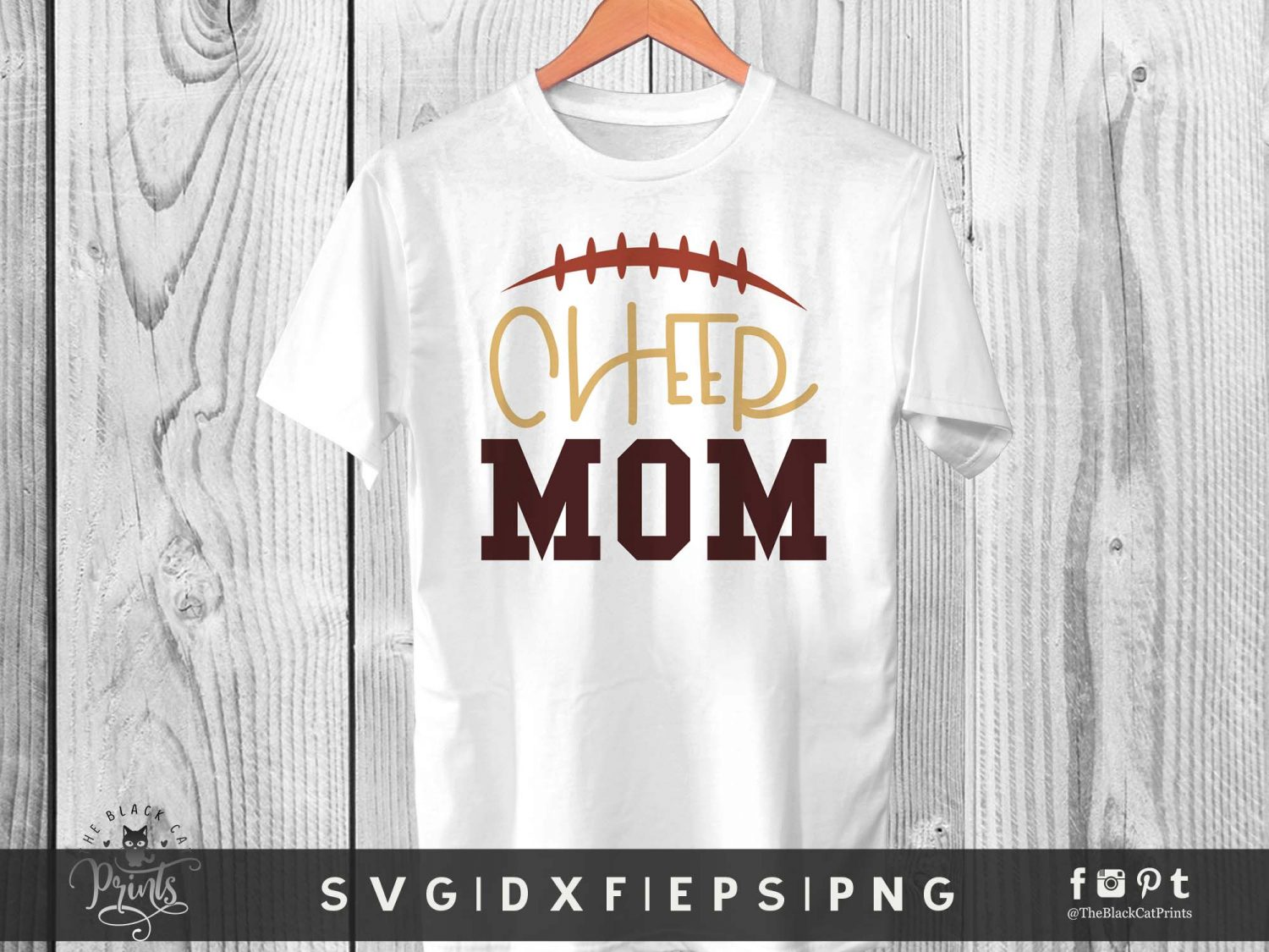 Cheer Mom Svg Dxf Png Eps 2 Theblackcatprints
