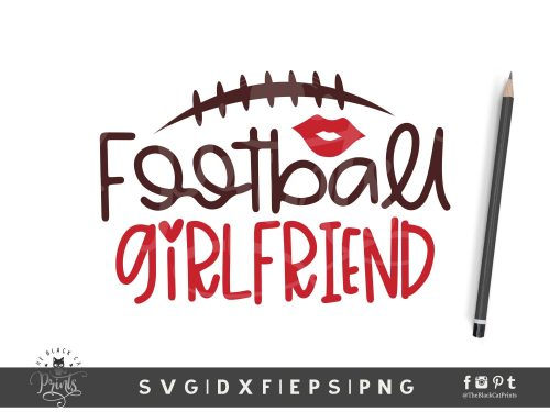 Football Girlfriend SVG