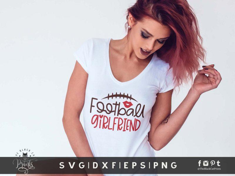 Football Girlfriend SVG