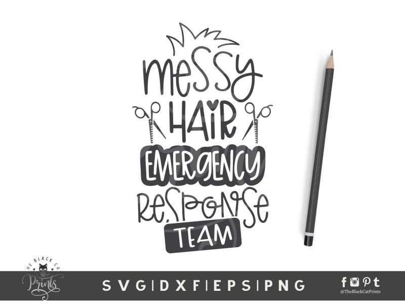 Messy Hair Emergency Response Team SVG