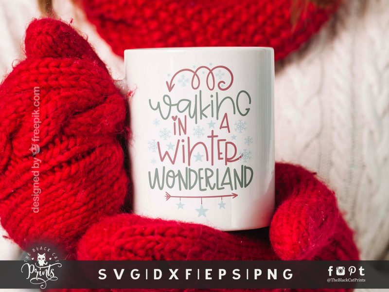 Walking In A Winter Wonderland SVG