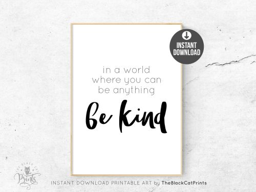Be Kind Printable Art