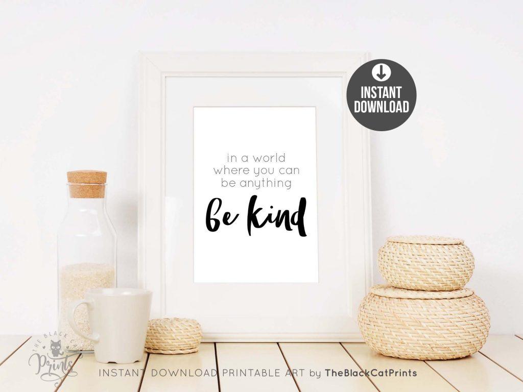 Be Kind Printable Art