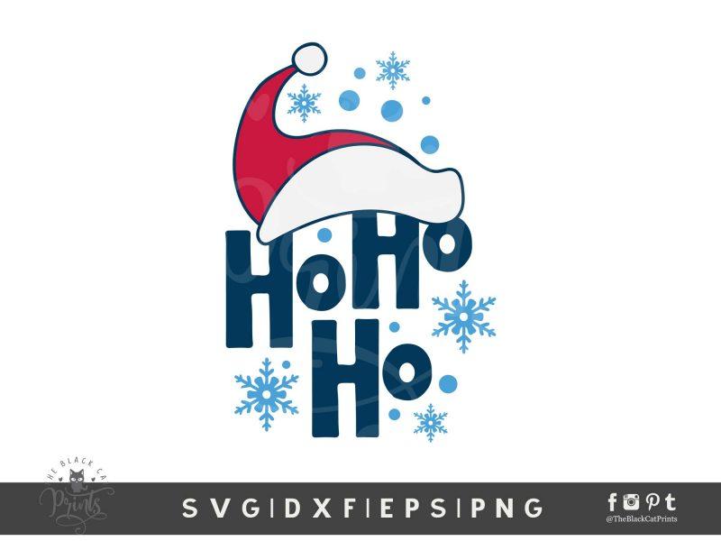 Ho Ho Ho Santa Hat SVG
