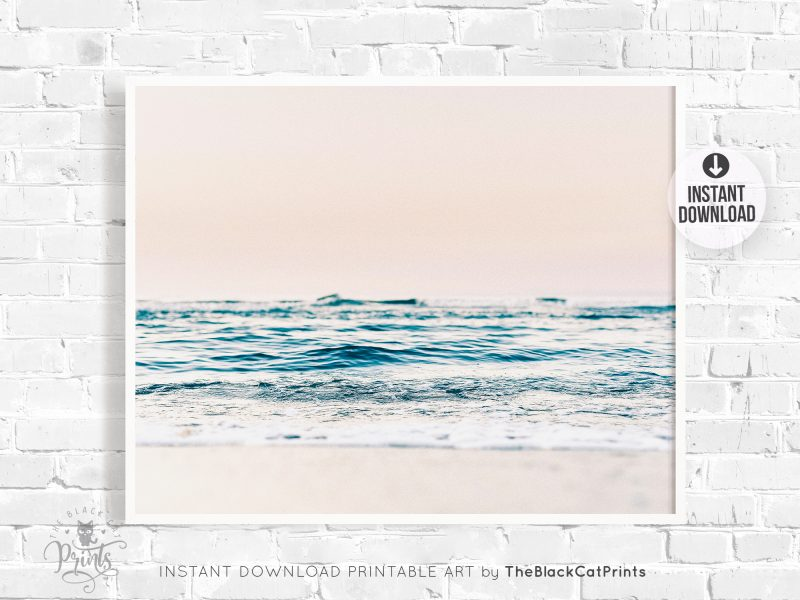 Ocean Beach Pastel Photography Print