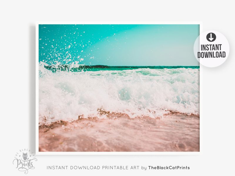 Ocean Wave Emerald Photography Print