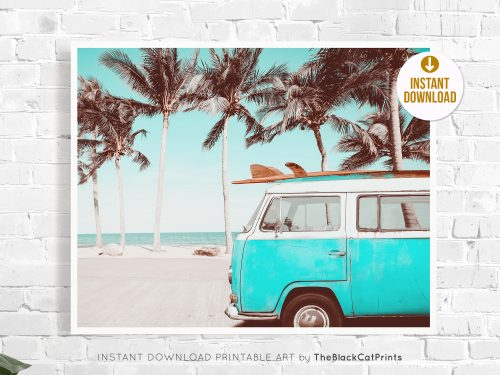 Retro VW Camper & Surf Photography Print