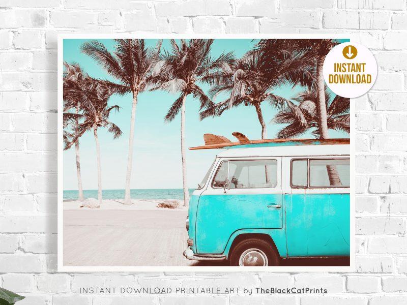 Retro VW Camper & Surf Photography Print