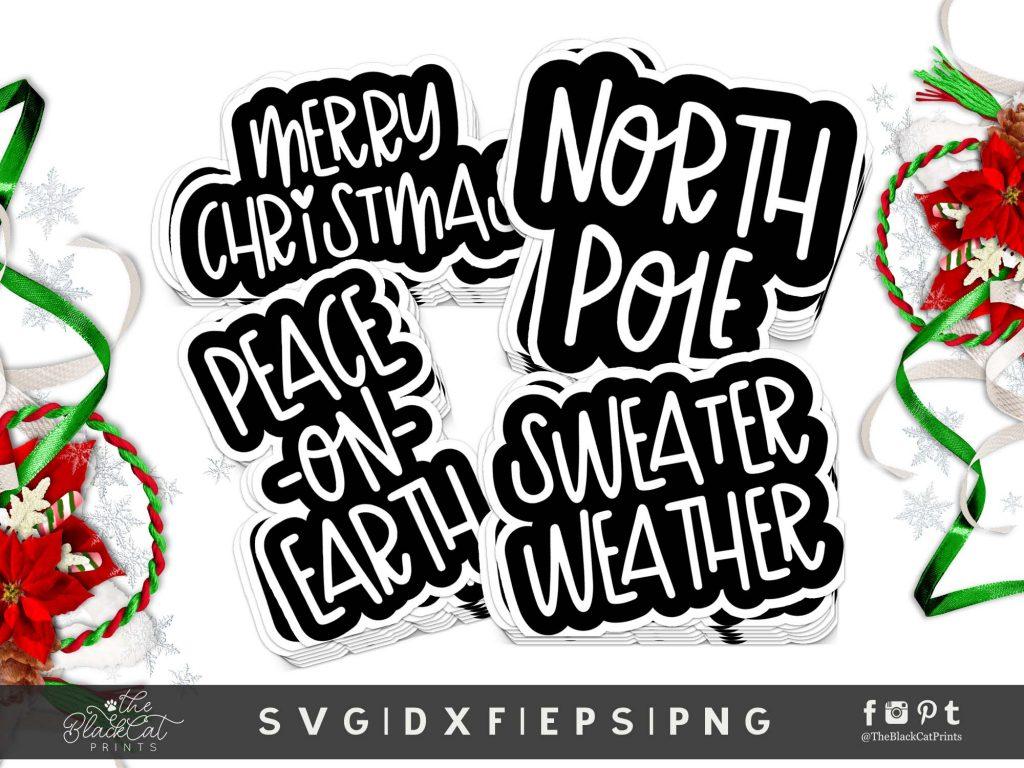 Christmas Stickers Bundle SVG