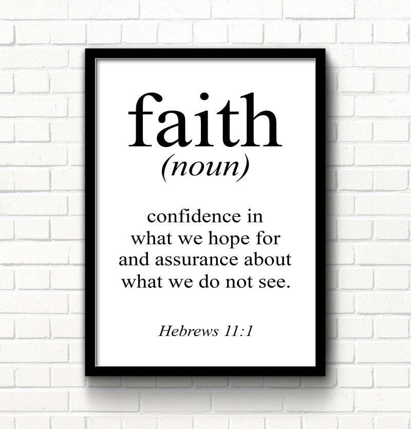 Faith Definition Printable Art
