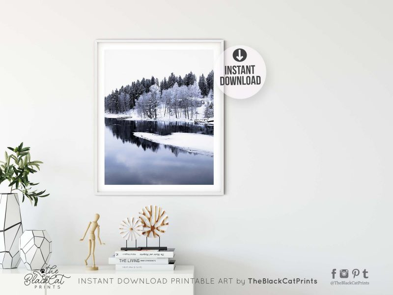 Snowy Winter River Photography Print