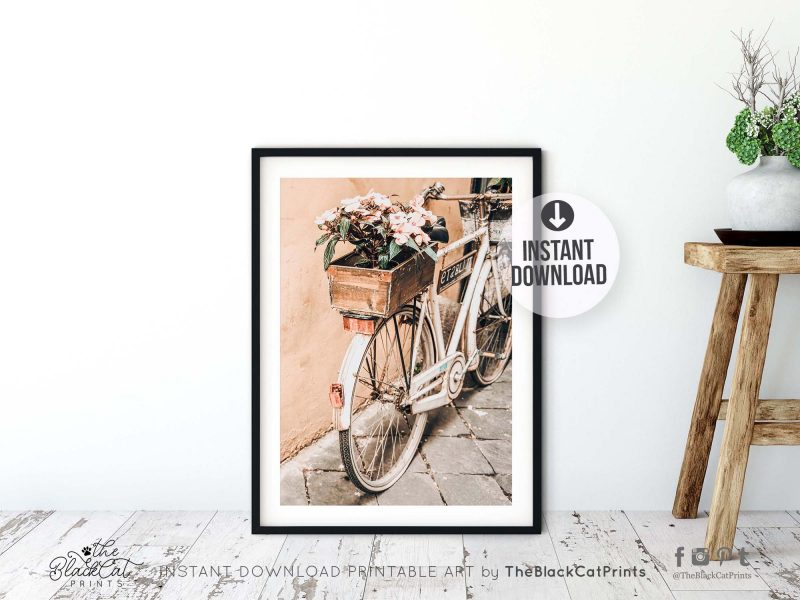 Floral Bicycle Photography Print