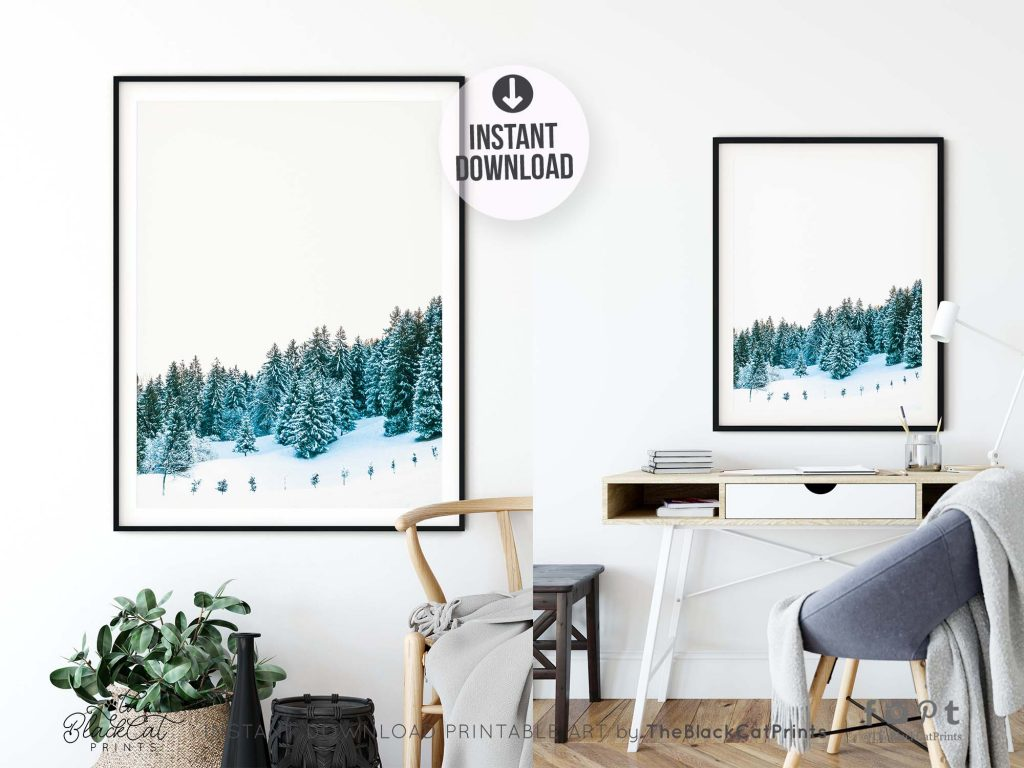 Snowy Winter Forest Photography Print