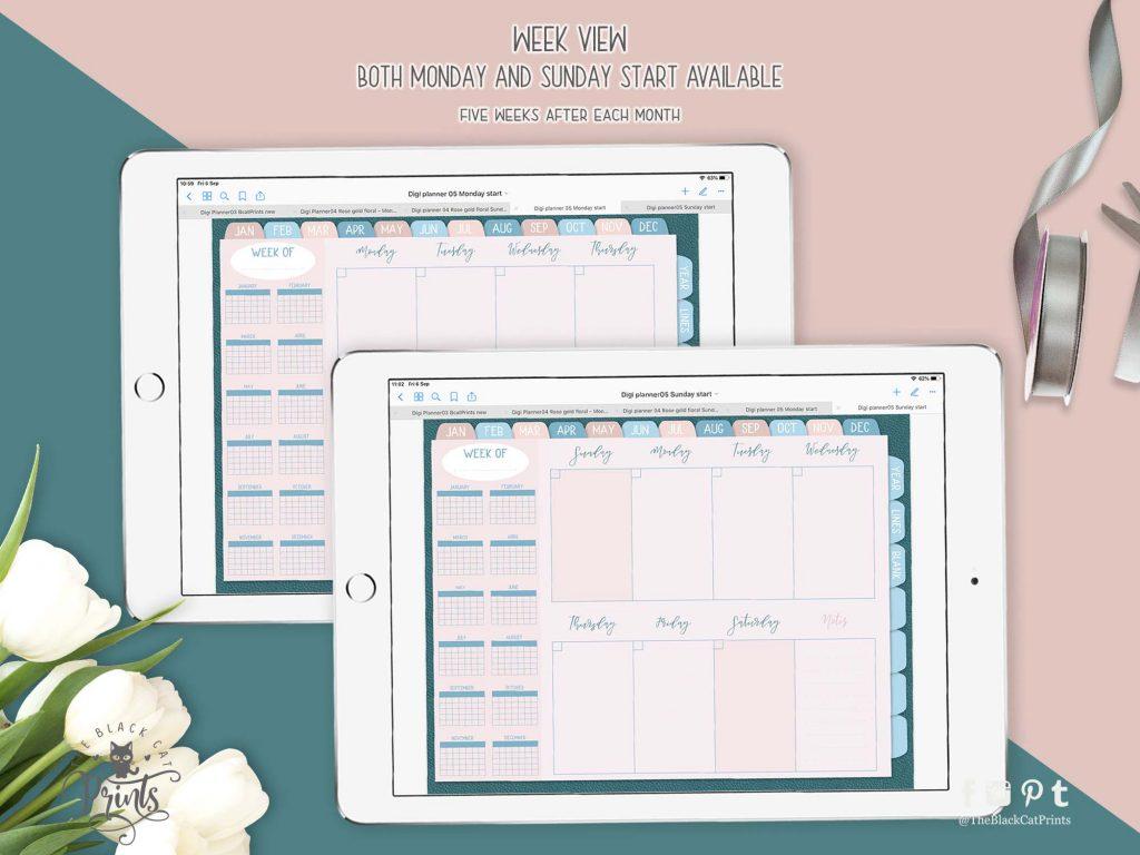 Undated Hyperlinked Digital Planner 05