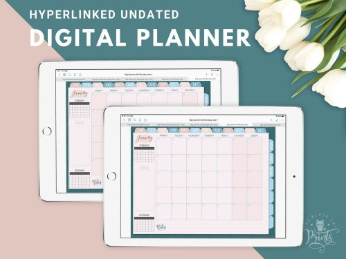 Undated Hyperlinked Digital Planner 05