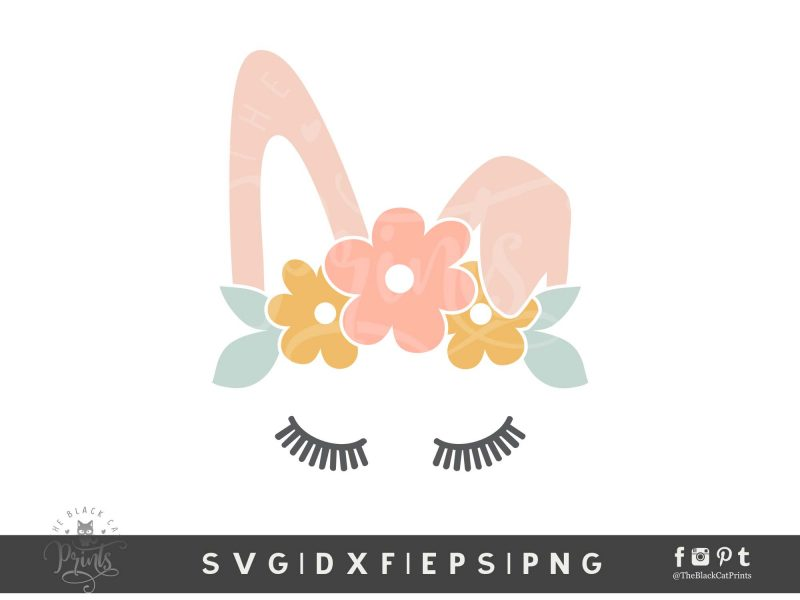 Easter Clipart Bunny Face SVG