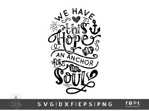 Anchor For The Soul SVG