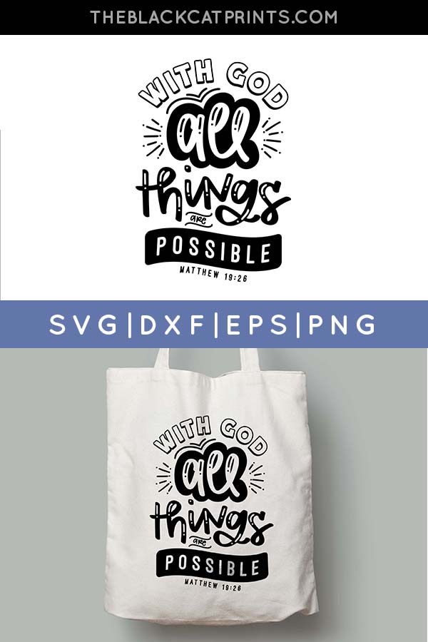 With God All Things Are Possible SVG