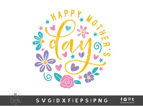 Happy Mother's Day Rounded SVG