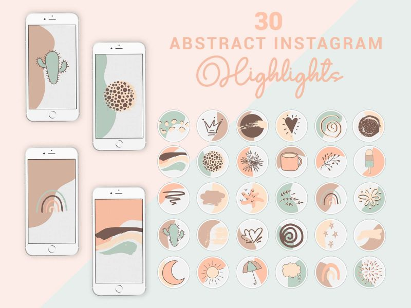Instagram Story Highlight Icons - Boho Abstract