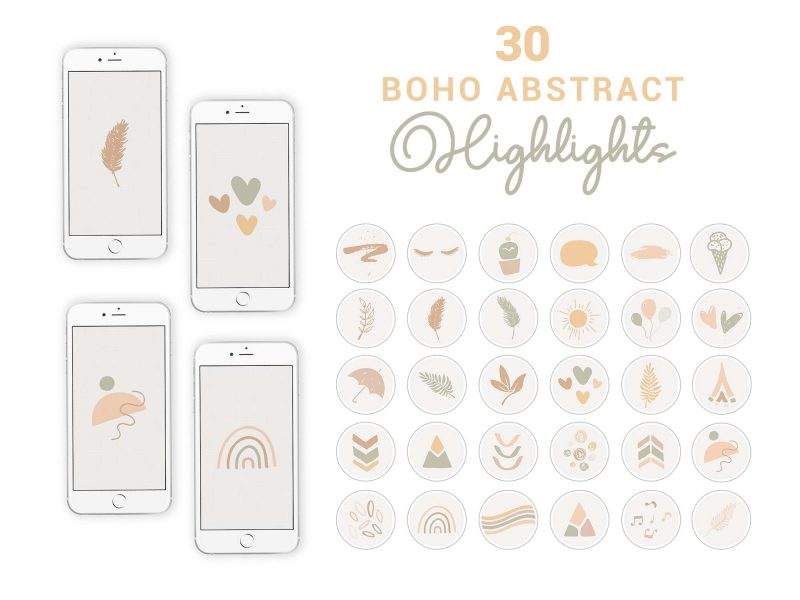 Instagram Story Highlight Icons - Boho Abstract - 2