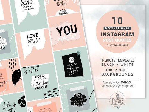 Instagram Post Templates - Motivational Quotes
