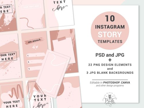 Instagram Story Templates - Boho Abstract Backgrounds