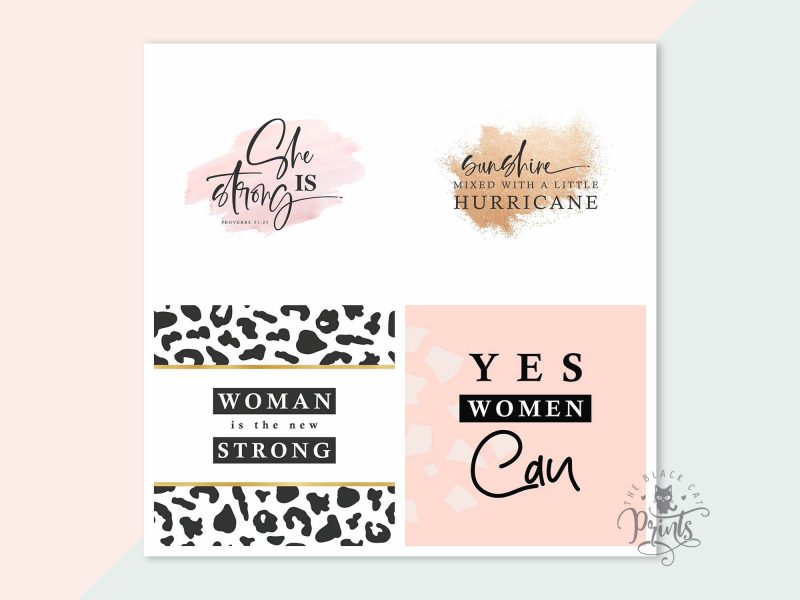 Instagram Post Templates - Girl Power Quotes