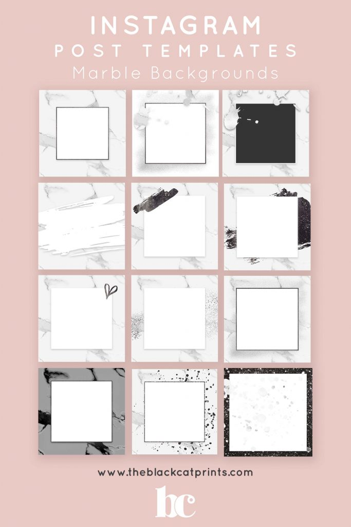 Instagram Post & Story Templates - Marble Backgrounds