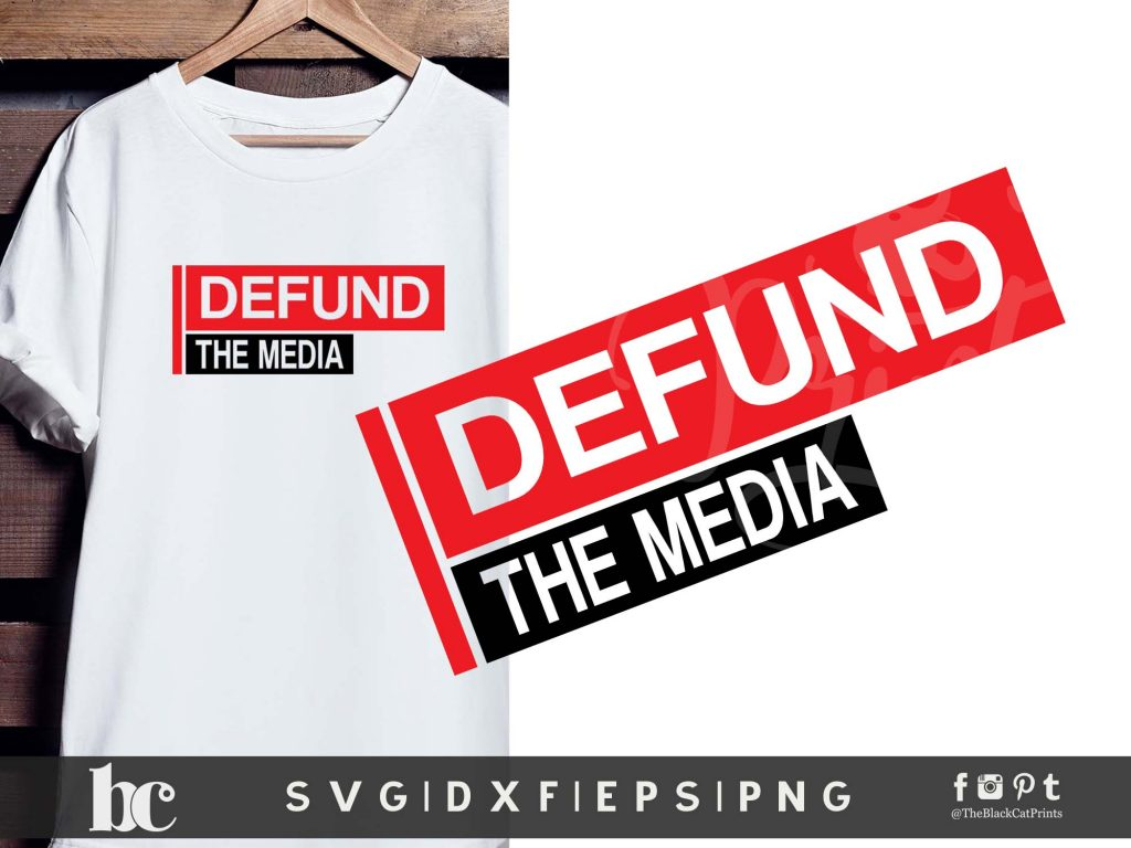 Defund The Media SVG