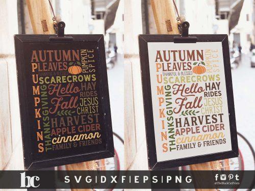 Fall Sign - Hello Fall SVG