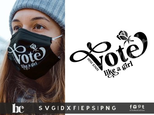 Vote Like A Girl SVG