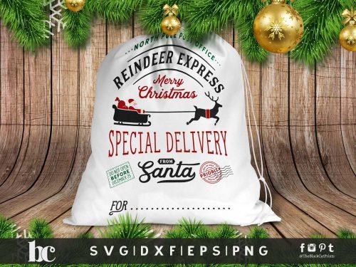 Santa Bag SVG