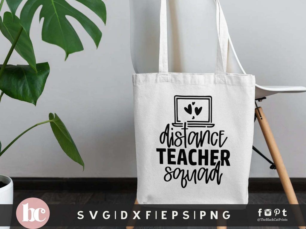 Distance Teacher Squad SVG