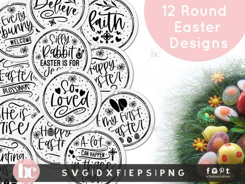 Easter Round Ornaments Bundle SVG