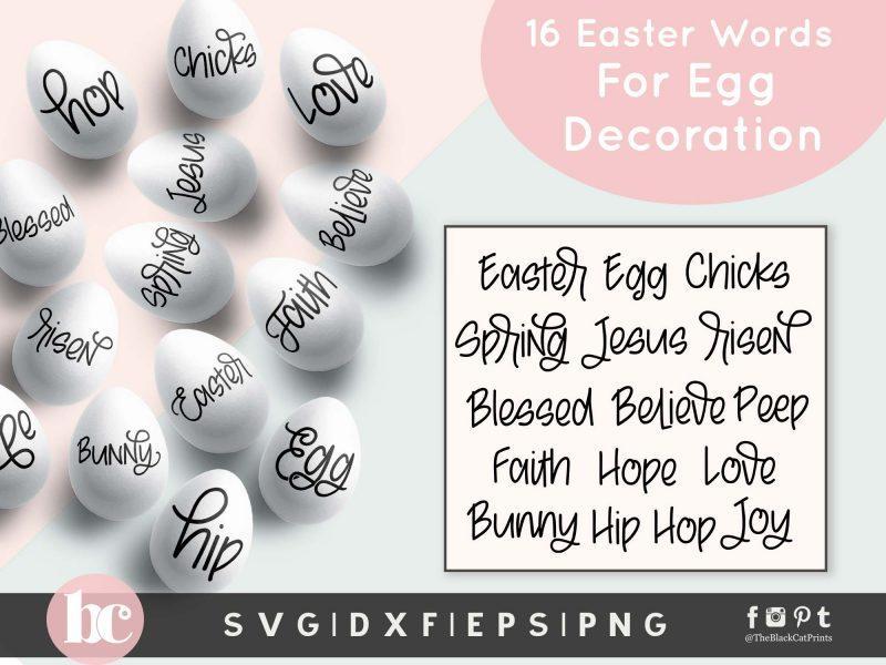 Easter Words Bundle SVG