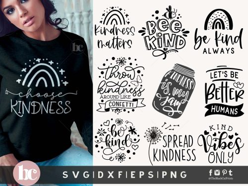 Kindness Quotes Bundle SVG