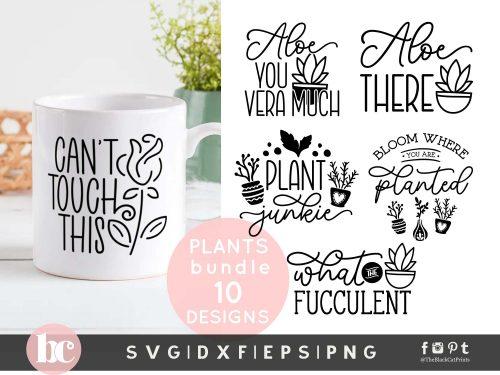 Plant Quotes Bundle SVG