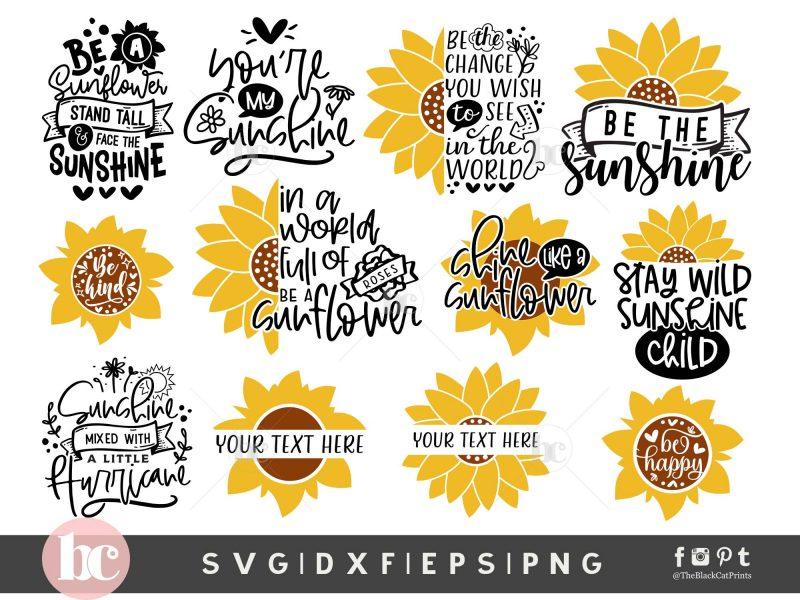 Sunflower Bundle SVG