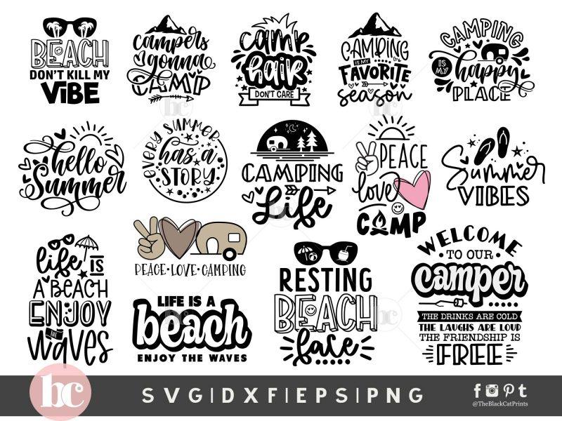 Camping - Summer Bundle SVG