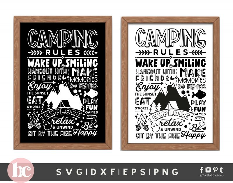 Camping Rules SVG