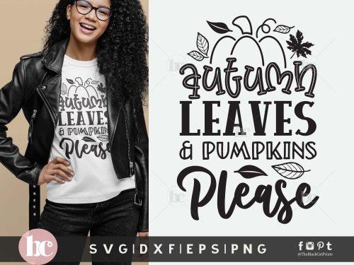 Autumn Leaves & Pumpkins SVG