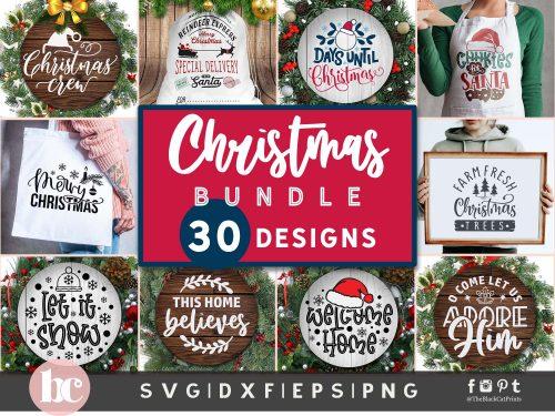 Christmas Bundle SVG | Christmas Rounds SVG